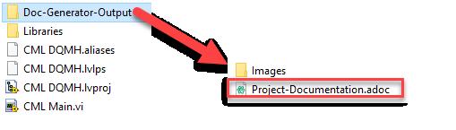 Antidoc output folder